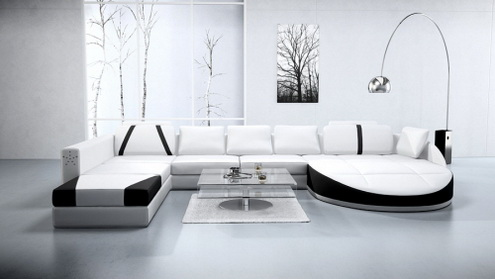 nowoczesne sofy biel i czer fotobudowa. Black Bedroom Furniture Sets. Home Design Ideas