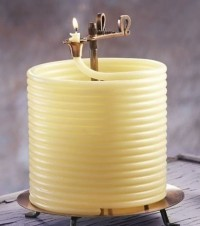 ale bajerek do salonu, ciekawy czy to coś samo się obraca i może się wypalić cały zwój świecy ?