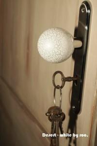 Desert White Niesamowita biała klamka gałka ze srebrnym wzorem – daje wspaniały efekt w ja ...