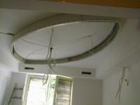 półokrągła łezka na suficie z kartongipsu stelaż