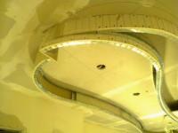 okrągła konstrukcja sufitu podwieszanego stelaż z profili