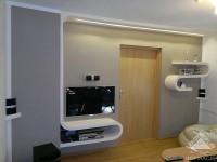 ozdobne półki na ścianie, konstrukcje z regipsu
