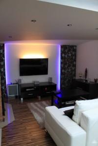 ściana tv,podświetlenie telewizora