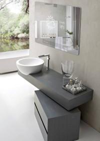 nowoczesna łazienka z inteligentnym lustrem