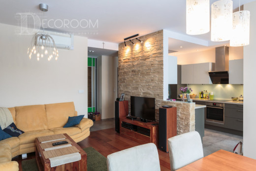 Mieszkanie w stylu nowoczesnym – salon / kuchnia www.decoroom.eu