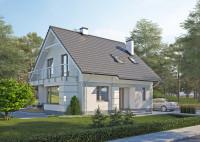 LK&1213 projekt domu jednorodzinnego, spełniajacy warunki programu dofinansowań do Mieszkani ...