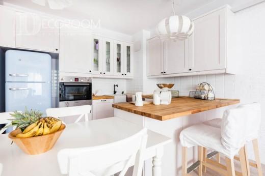 Mieszkanie w stylu skandynawskim – kuchnia / jadalnia