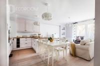 Mieszkanie w stylu skandynawskim – salon / kuchnia / jadalnia