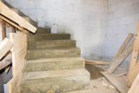 konstrukcja schodów zabiegowych betonowych