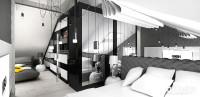 Sypialnia na antresoli | NO ENTRY. Wnętrza apartamentu