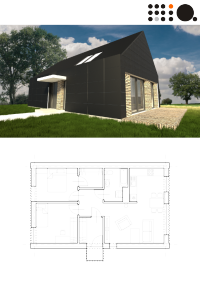 Projekt małego budynku jednorodzinnego dla 3 osobowej rodziny, PU 70m2, parterowy, Archiekt: MiA ...