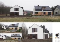 Projekt i realizacja budynków jednorodzinnych w Tychach, Projekt 2013r., Realizacja 2014r., Arch ...