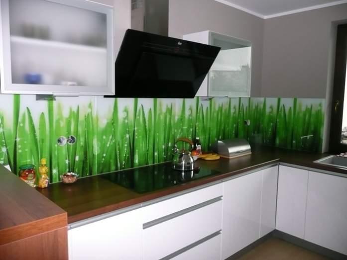 Inteligentny panele szklane lacobel aranżacja kuchni ze szkłem -   Fotobudowa MN16