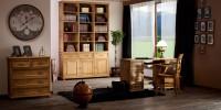 Biuro w stylu retro https://www.zrobionezdrewna.pl/kolekcje/kolekcja-hacienda/