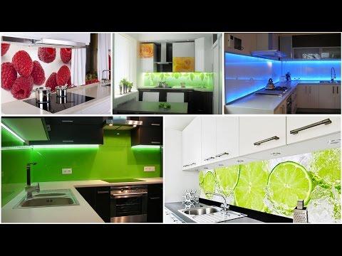 Lacobel szkło w kuchni – panele szklane pomiędzy szafki kuchenne