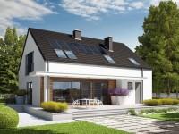DOM.PL™ – Projekt domu AC E4 G1 ECONOMIC (wersja A) CE – DOM AF2-55 – gotowy p ...