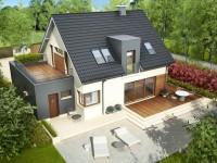 DOM.PL™ – Projekt domu AC Mati G1 CE – DOM AF1-19 – gotowy projekt domu