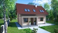 DOM.PL™ – Projekt domu ZA Dom w KANSAS CE – DOM ZA1-91 – gotowy projekt domu