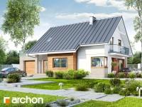 Projekt domu Dom w aurorach 4 z oferty Biura Projektowego ARCHON+, to projekt domu z poddaszem u ...