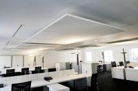 Sufit podwieszany w biurze, openspace
