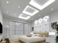 Jasna sypialnia, projekt sufity podwieszanego