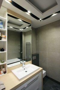 Projekt sufitu i oświetlenia do łazienki