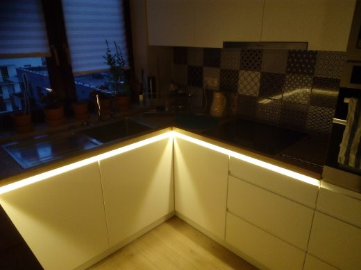 Podświetlenie blatu w kuchni
