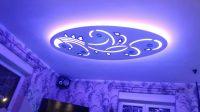 """sufit podwieszany, plafon tkled, lampa wisząca, wzór ,,owal kwiat"""", wymiar 110 x 220 cm, 5 ..."""