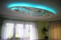 sufit podwieszany, plafon tkled, lampa wisząca, wymiar 110 x 220 cm