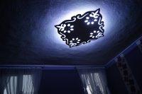 """sufit podwieszany, plafon tkled, lampa wisząca, wymiar 115 x 115 cm, wzór ,, barok """""""