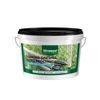 """""""Ochrona drewna przed próchnicą"""" niemieckiej marki Ultrament to produkt bitumiczny przeznaczony  ..."""