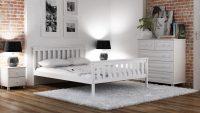 Meble Magnat – łóżko Alion w kolorze białym. Doskonale łączy się z tym samym lub dowolnymi ...