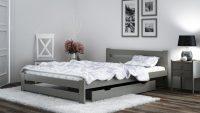 Meble Magnat – łóżko Kada w kolorze szarym, które złamie oszczędną, monochromatyczną kolor ...