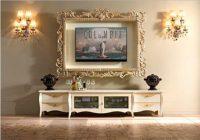 Telewizor w ramie obrazu w klasycznym wnętrzu