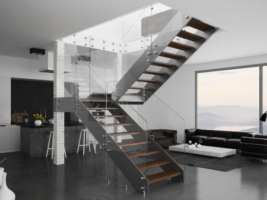 Rintal Polska model Futura ze szklaną balustradą