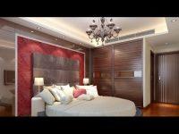 Nowoczesny sufit z oświetleniem led w sypialni