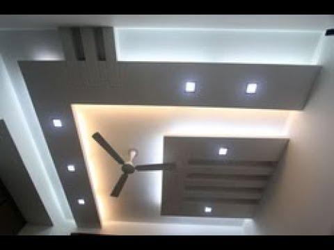 Nowoczesne sufitu z oświetleniem led dwupoziomowe konstrukcje