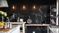 Farba tablicowa ściana do rysowania i pisania w kuchni