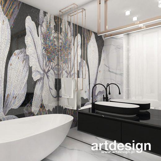 Wymarzona łazienka z piękną mozaiką. FORBIDDEN FRUIT IS THE SWEETEST   Wnętrza apartamentu