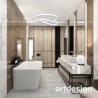 Nowoczesna łazienka w ciepłej kolorystyce i z dodatkami drewna. PERFECT MATCH | Wnętrza domu