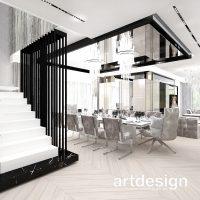 Nowoczesne schody mogą być ozdobą wnętrza. Ażurowa forma balustrady (lub, jak tutaj, ścianki odd ...