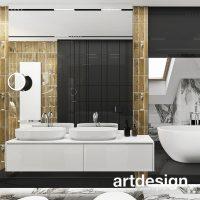 Wymarzona łazienka, a może pokój kąpielowy? Wygodne wnętrze, efektowny design, efektowne materia ...