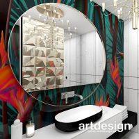 Kolorowe szaleństwo :) Wnętrze łazienki to przestrzeń, w której można sobie pozwolić na odważny  ...