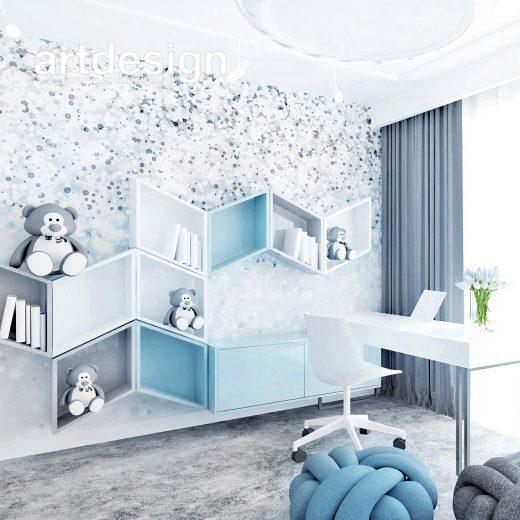 Pokój dziecięcy w niebieskiej tonacji. SOUL MATE   Wnętrza domu
