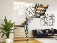 Rintal Polska Schody Twin z balustradą Weld Profile. Konstrukcja metalowa w kolorze grafitowym.  ...