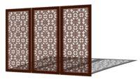 Dekoracja ogrodowa z metalu ocynkowanego malowanego proszkowo. Panele metalowe wolnostojące, mot ...