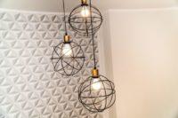Tapety do małego pomieszczenia Tapeta przestrzenna we wzory geometryczne