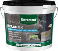 Ultrament Isolastik to bazująca na bitumie, uszlachetniona lateksem, izolacja bitumiczna typu śr ...