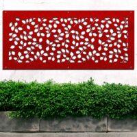 Panel ażurowy z metalu do ogrodu. Dekoracyjny panel ogrodowy, ścienny. Stal ocynkowana 3mm malow ...