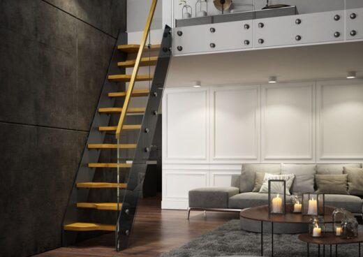 Rintal Polska, schody Futura Plus w stylu glamour Stopnie dębowe w kolorze natura. Konstrukcja s ...
